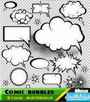 دانلود وکتور طرح های حباب شکلی
