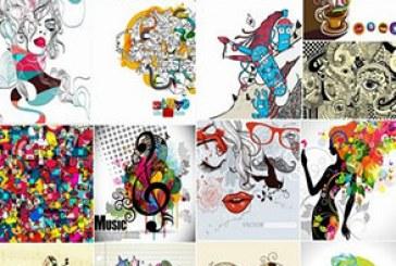 دانلود وکتور تصاویر گرافیکی هنری و خلاقانه