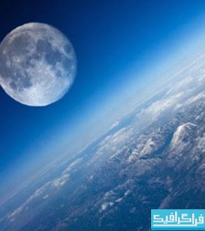 دانلود والپیپر زمین و ماه