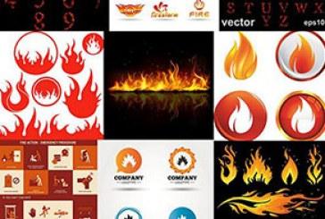 دانلود وکتور طرح های آتش – Fire Designs