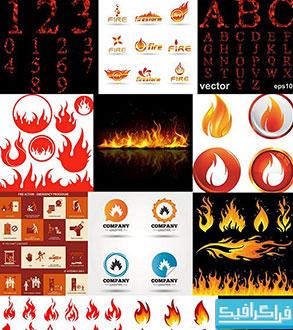 دانلود وکتور طرح های آتش - Fire Designs
