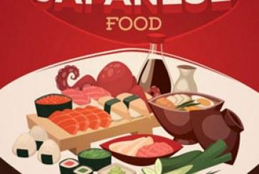 دانلود وکتور های غذا های ژاپنی