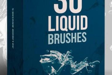 دانلود براش های فتوشاپ مایع و قطرات آب