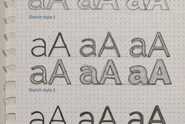 فایل لایه باز افکت متنی طرح اولیه – اسکچ