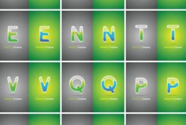 وکتور های حروف انگلیسی – طرح لوله آزمایشگاهی