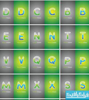 وکتور های حروف انگلیسی - طرح لوله آزمایشگاهی