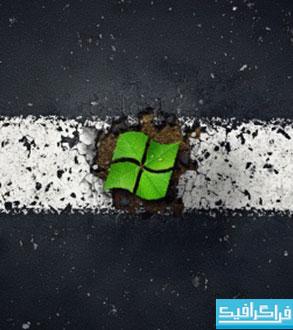 دانلود والپیپر ویندوز 7 سبز