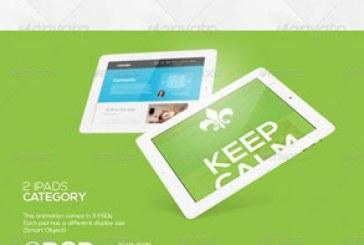 دانلود ماک آپ های فتوشاپ تبلت iPad متحرک