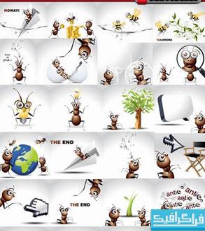 دانلود وکتور طرح های مورچه