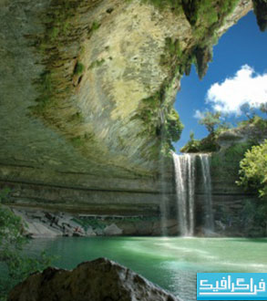 دانلود والپیپر آبشار زیبا