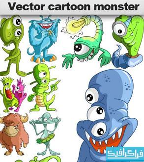 دانلود وکتور هیولا های کارتونی