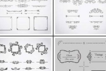 وکتور طرح های قاب و تزئینی کالیگرافی