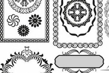 دانلود وکتور قاب های تزئینی – شماره 2