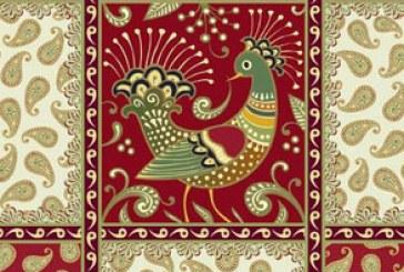 دانلود وکتور طرح های اسلیمی با پرنده