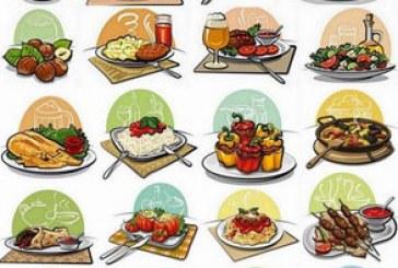 دانلود وکتور های تصاویر گرافیکی غذا
