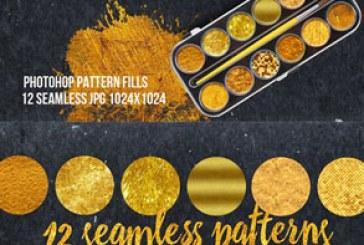 دانلود پترن های فتوشاپ طلایی