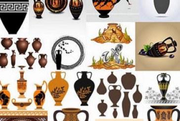وکتور های مجسمه و ظروف یونان قدیم