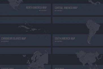 دانلود قالب پاورپوینت نقشه های جهان