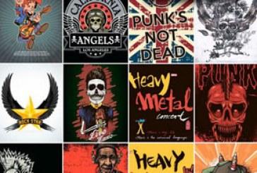 دانلود وکتور پوستر های موسیقی راک