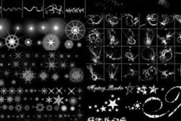 براش های فتوشاپ افکت نور و ستاره – شماره 2