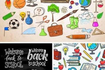 دانلود وکتور طرح های بازگشت به مدرسه