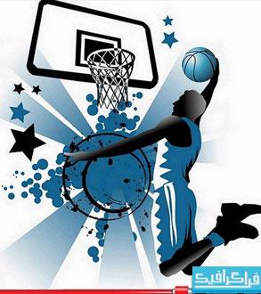 دانلود وکتور طرح های بازیکن بسکتبال