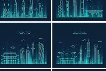 دانلود وکتور شهر های جهان – طرح سایه