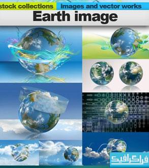 دانلود تصاویر استوک کره زمین - گرافیکی