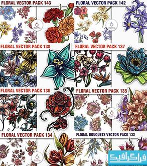 دانلود مجموعه کامل وکتور های گل