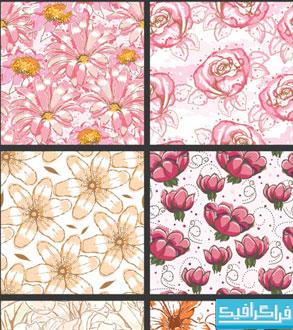 دانلود وکتور های پترن گل - شماره 3