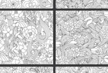 دانلود وکتور های پترن گلدار – شماره 3
