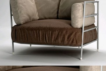 دانلود مدل سه بعدی صندلی راحتی بلند