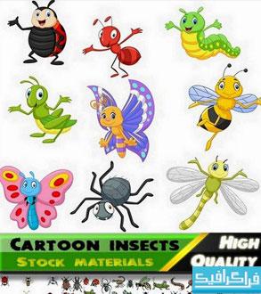 دانلود وکتور های حشرات کارتونی