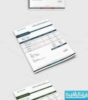 دانلود فایل لایه باز قالب صورتحساب - شماره 2
