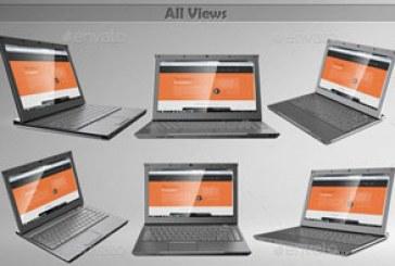 دانلود ماک آپ های فتوشاپ لپ تاپ