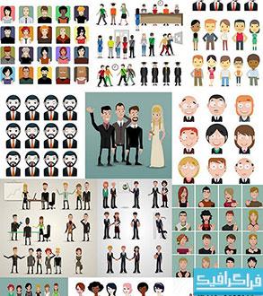 دانلود وکتور های مردم - کارتونی - شماره 3