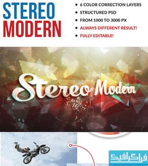 اکشن فتوشاپ افکت مدرن استریو Modern Stereo