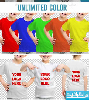 دانلود ماک آپ تی شرت دختر بچه