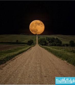 دانلود والپیپر ماه بزرگ