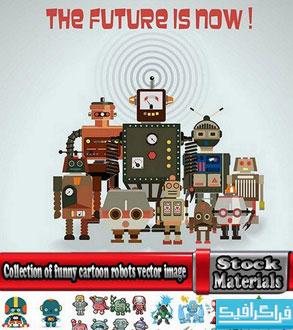دانلود وکتور های روبات کارتونی