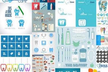 دانلود وکتور طرح های مراقبت از دندان