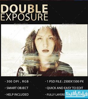 دانلود فایل لایه باز افکت Double Exposure - شماره 3