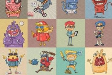 دانلود وکتور شخصیت های کارتونی بامزه – شماره 4