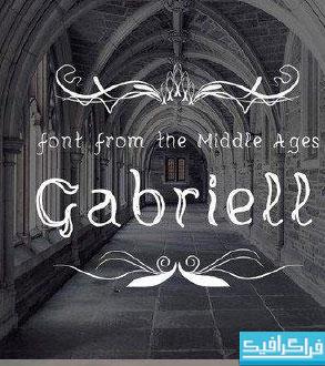 دانلود فونت انگلیسی طرح قدیمی Gabriell