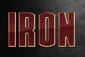 آموزش فتوشاپ ساخت افکت متن فیلم Iron Man