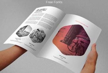 فایل لایه باز ایندیزاین قالب مجله مدرن