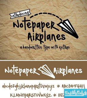 دانلود فونت انگلیسی Notepaper Airplanes