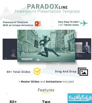 دانلود قالب پاور پوینت تجاری Paradox Line