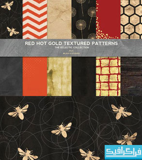 دانلود پترن های زمینه طلایی و قرمز