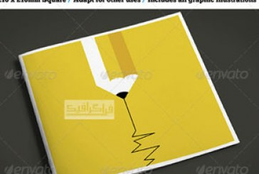 فایل لایه باز ایندیزاین بروشور مربعی خلاقانه